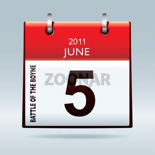 Battle of the Boyne calendar icon
