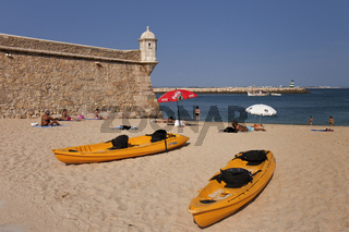 Portugal Largos Boats At The Fortress