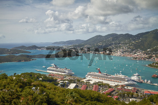 Bay and Port of St. Thomas in US Virgin Islands