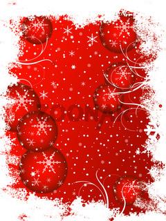 frostige Weihnachtskarte rot
