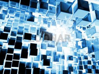 Blue Cubes Background