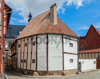 altes fachwerkhaus in quedlinburg