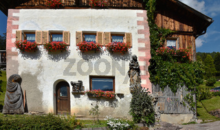 Bauernhaus im Groednertal; Dolomiten; Suedtirol;