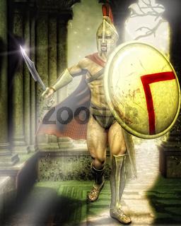 Ein Spartaner in Troja