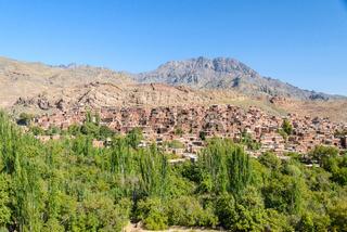Panoramic view over Abyaneh village, Iran