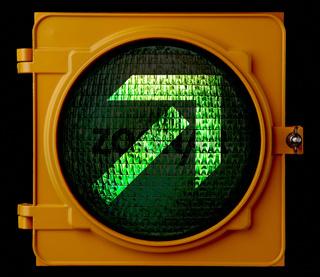 Green directional light