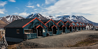 Houses in Longyearbyen, Norway