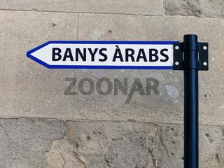 Wegweiser - Arabische Baeder - Palma de Mallorca