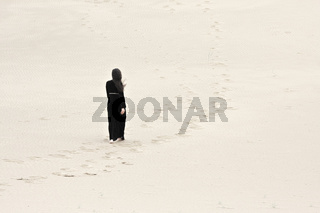 Woman in sands