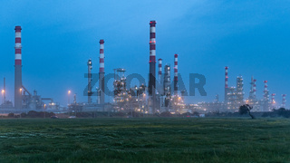 Oil refinery view