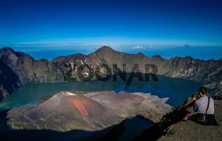 Gunung Rinjani from above