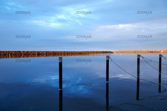 Barth, Mecklenburg-Vorpommern, Hafen mit Mohle in Oktobersonne