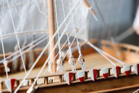 Details von einem Segelschiff