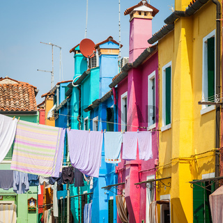 Colored houses in Venice - Italy