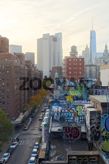 Impressions from the Lower Manhattan cityscape in New York