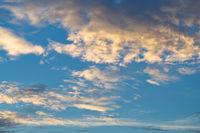 Tropical orange evening dusk sky