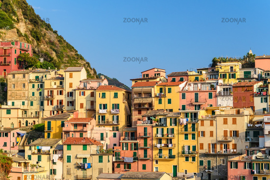 Italy Riviera at Colorful Manarola village, Cinque Terre, Italy