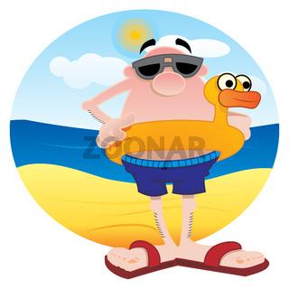 Tourist on the beach
