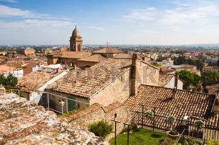 Blick über Santarcangelo, Italien