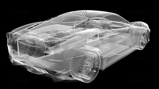 transparent sport car