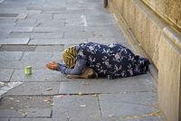 female beggar