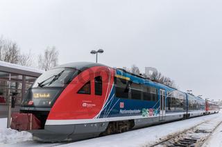 Modernisierter Regionalzug der Deutschen Bahn