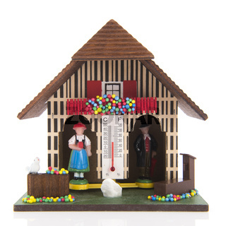 Miniature weather house