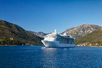 Cruise ship in the Bay of Kotor, Montenegro