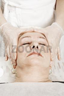 Patient at face massage