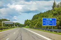 freeway road sign on Autobahn A81