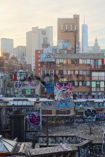 Rooftops in the Lower East Side of Manhattan