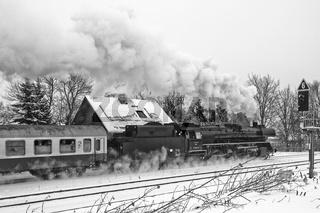 DB Regio Dampfzug Rodelblitz bei Zella-Mehlis