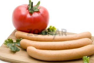 Fleischwurst mit Tomate