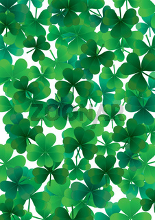 Happy clover background
