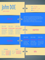 Tags with rings cv resume template