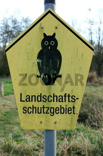 schild, landschaftsschutzgebiet