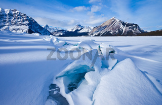 Upper Kananaskis Lake in winter - Peter Lougheed Provincial Park