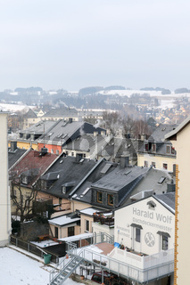 Blick ueber die Daecher von Annaberg-Buchholz