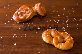 Some salty cooked pretzel