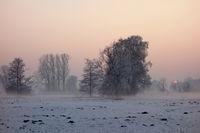 Winter, Abendstimmung