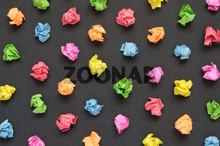 Colorful crumpled papers background