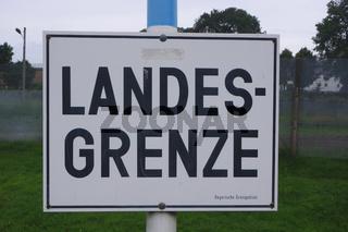 Landesgrenze Schild