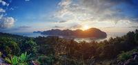 Beautiful nature, sunset view