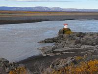 Flusslandschaft am jökulsa a fjöllum in Island