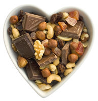 I heart fruits, nuts and chocolate