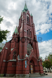 The cathedral of Bergen, Norway
