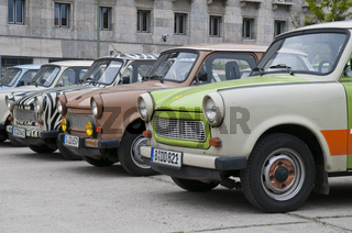 Alte DDR Autos der Marke Trabant   Old GDR cars of the brand Trabant, Berlin, Germany