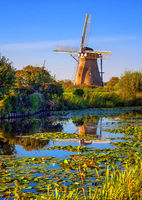 Windmill in Holland, Kinderdijk, Netherlands