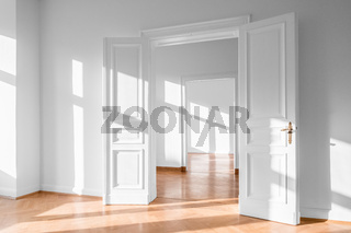 Beautiful empty flat, bright apartment - real estate interior