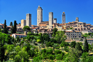 Panoramic view of San Gimignano in Tuscany